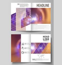 business templates for bi fold brochure magazine vector image