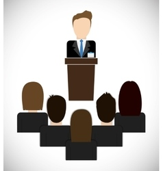 Businesspeople on presentation icon Business vector