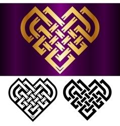 Celtic heart vector