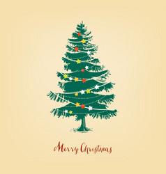 christmas tree realistic pine tree vector image