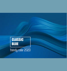 classic blue color fashion color abstract flow vector image