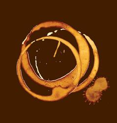 coffee splatter on brown vector image