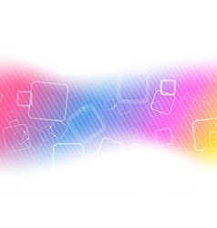 Colorful technology background template vector image