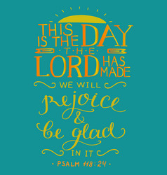 coloring hand lettering with bible verse this is vector image
