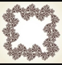 Creative frame design vector