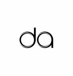 Da logo monogram with slice rounded modern design vector