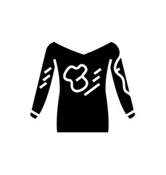Dirty clothes - hoodie - laundry service - stain vector