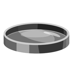 Filter lens icon gray monochrome style vector