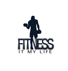 Fitness it my life human gym background ima vector
