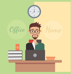 flat design office or home vector image