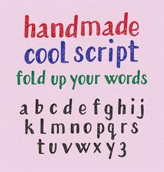 handwritten style cool typeface english alphabet vector image