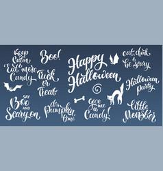 happy halloween hand written text vector image