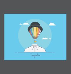 Imagination icon vector