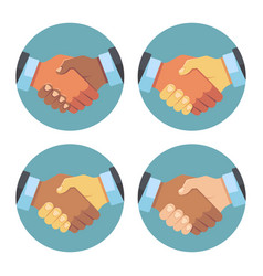 international business partnership handshake vector image