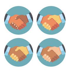 international business partnership handshake vector image