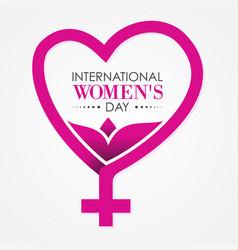 International womens day letter for element design vector