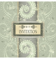 invitation template eastern pattern vector image