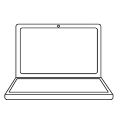 Laptop frontview icon vector