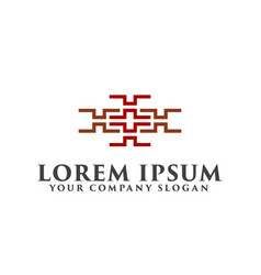 logo for interior furniture shops decor items vector image