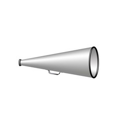 Megaphone in silver and black design vector