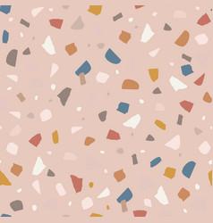 modern terrazzo seamless pattern decorative vector image