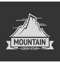 Mountain exploration vintage logos emblem vector