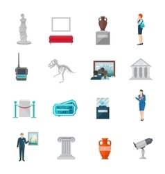 Museum Icon Flat vector image