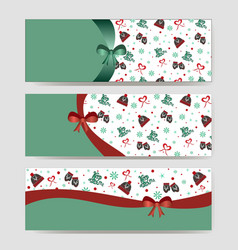 new year or christmas banner with space vector image