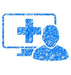 Online medicine grunge icon vector