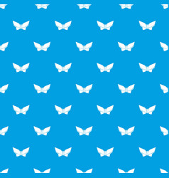 origami butterfly pattern seamless blue vector image