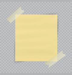 Paper sheet on translucent sticky tape with vector