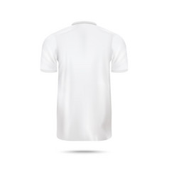 Plain white t-shirt - blank mockup from back view vector