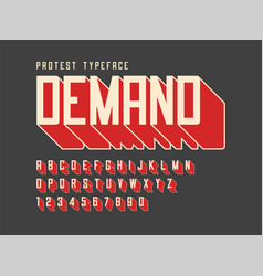protest display font design alphabet character vector image