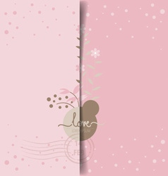 Romantic greeting card design with flower vector image
