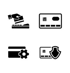Safe payment simple related icons vector