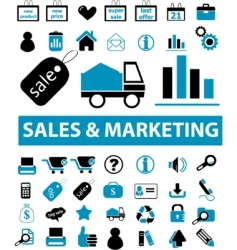sales marketing signs vector image