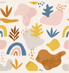 Seamless childish pattern with hand drawn abstract vector