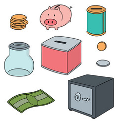 set of saving money vector image