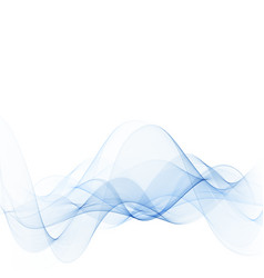 Smooth waves or lines abstract backgroundblue vector