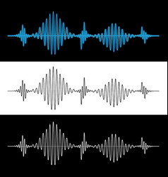 sound wave vibration signal vector image