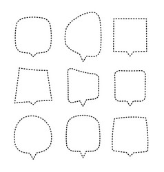 speech or thought bubbles of different shapes and vector image