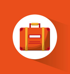 suitcase bagagge travel icon vector image