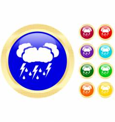 thunderstorm icons vector image vector image