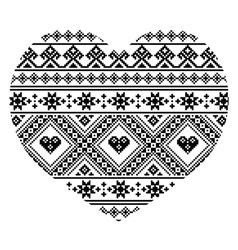 Traditional black Ukrainian or Belarusian folk art vector image