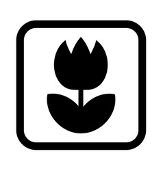 tulip flower icon vector image