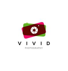 vibrant camera photography logo symbol vector image
