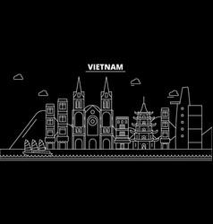 vietnam silhouette skyline vietnam city vector image