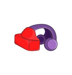 VR headset icon in cartoon style vector