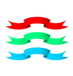 Wavy type banner - ribbon with curled ends vector