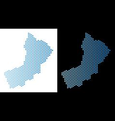 Yemen map hexagon scheme vector